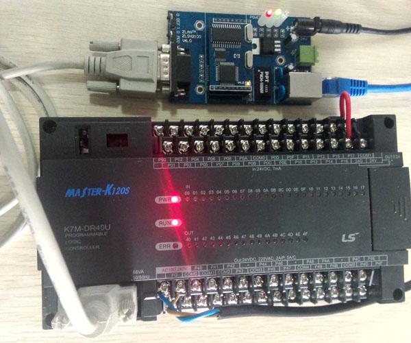 和欧姆龙plc连接是zlan2100的连接线需要进行特殊的设置,具体设置